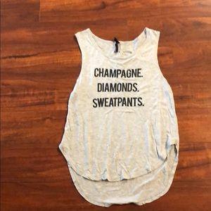"BETSY JOHNSON ""champagne diamonds and sweatpants"""